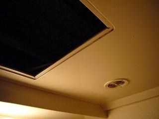 ユニットバス天井に設けられた点検口