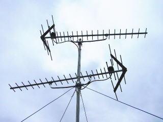地上デジタル用アンテナを追加し既存の地域共同受信と混合