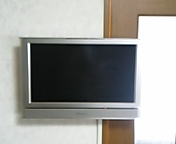 液晶テレビの壁掛け設置事例の画像