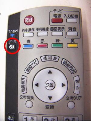 リモコンのデータボタンを押すだけでデータ放送が楽しめます。