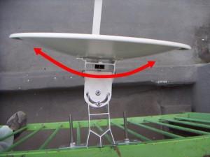 スカパーアンテナの方位角調整