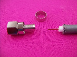 F型接栓の取付方法の画像